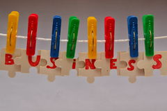 The business component. Royalty Free Stock Photo