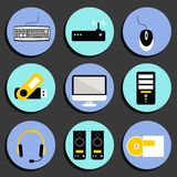 Business Computer Icons Set Royalty Free Stock Photo