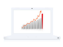 Business computer notebook Stock Images