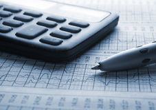 Business concept. Analyzing financial diagram Stock Photo
