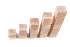 Business concept. Wooden poles as a business concept, achieve goals, recovery Stock Photo