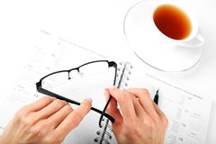 Business Concept. Businesswoman, Office and Document Royalty Free Stock Image
