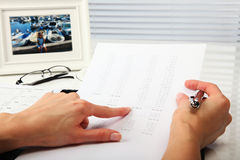 Business Concept. Businesswoman, Office and Document Stock Photos