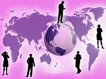 Business concept. Business team all around the world as business concept Royalty Free Stock Image