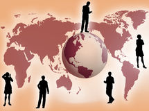 Business concept. Business team all around the world as business concept Royalty Free Stock Images