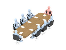 Business concept. A businessman team at work Stock Illustration