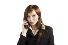 Business Concept. With young business girl Stock Photo
