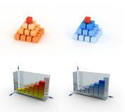 Business concept. A 3d set of multiple business icon Stock Images