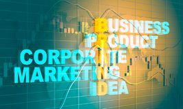 Business concept acronym. Acronym Brand. Business concept illustration. Financial market chart royalty free stock image