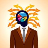 Business concept with arrows. Concept of business with many arrows Royalty Free Stock Photos
