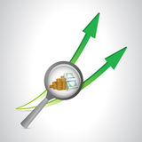 Business concept arrows going up. illustration. Design over a white background Stock Photos