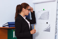 Business concept: attractive woman working in the office Stock Photo