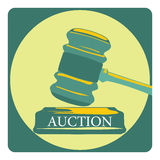 Business concept with auction sign Royalty Free Stock Photography