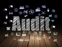 Business concept: Audit in grunge dark room Royalty Free Stock Images