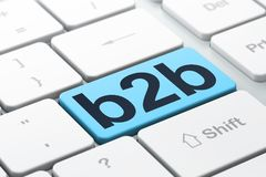Business concept: B2b on computer keyboard background Royalty Free Stock Photos