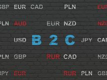 Business concept: B2c on wall background Royalty Free Stock Image