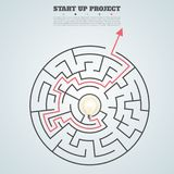 Business concept background. arrow finding a solution, problem s Stock Photography