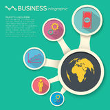 Business concept background. Flat style Stock Photos