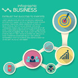 Business concept background. Flat style Stock Image