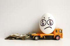 Business concept of bankruptcy. Loss of money Stock Photo