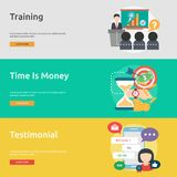 Business Concept Banner Design. Set of great vertical banner flat design illustration concepts for business, marketing, working, idea, event and much more Royalty Free Stock Images