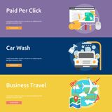 Business Concept Banner Design. Set of great vertical banner flat design illustration concepts for business, marketing, working, idea, event and much more Stock Photography