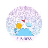 Business concept banner Royalty Free Stock Photo