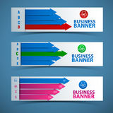 Business concept banners set Stock Photo