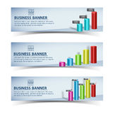 Business concept banners set Stock Photos