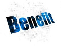 Business concept: Benefit on Digital background. Business concept: Pixelated blue text Benefit on Digital background Royalty Free Stock Images