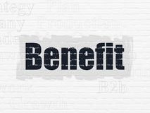 Business concept: Benefit on wall background Royalty Free Stock Images