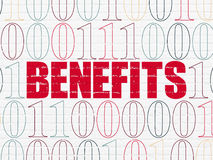 Business concept: Benefits on wall background Stock Image