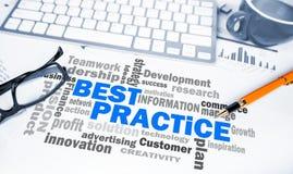 Business concept:best practice word cloud Stock Image