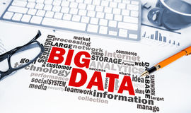 Business concept:big data word cloud Stock Images