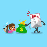Business concept bill payment getting money from a woman Royalty Free Stock Photography