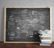 Business concept. Black blackboard with drawing business concept Stock Photo