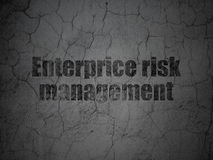 Business concept: Enterprice Risk Management on grunge wall background Royalty Free Stock Photos