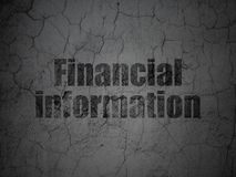 Business concept: Financial Information on grunge wall background. Business concept: Black Financial Information on grunge textured concrete wall background Royalty Free Stock Photo