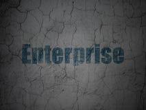 Business concept: Enterprise on grunge wall background. Business concept: Blue Enterprise on grunge textured concrete wall background Stock Photos