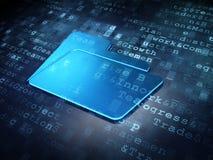 Business concept: Blue Folder on digital Stock Photos
