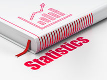 Business concept: book Growth Graph, Statistics on white background Royalty Free Stock Photography