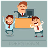 Business concept about Boss choice. Vector image of the Business concept about Boss choice Royalty Free Stock Images