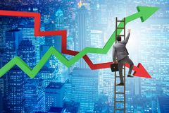 The business concept of both crisis and recovery. Business concept of both crisis and recovery Stock Photos