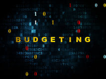 Business concept: Budgeting on Digital background Stock Photo