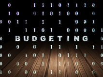 Business concept: Budgeting in grunge dark room Royalty Free Stock Photo