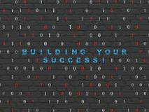 Business concept: Building your Success! on wall background Royalty Free Stock Images