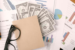 Business concept, Business graph analysis report. Accounting, Money, Tone color Royalty Free Stock Images