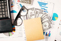Business concept, Business graph analysis report. Accounting, Money, Tone color Stock Image
