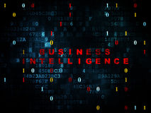 Business concept: Business Intelligence on Digital Stock Photo