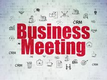 Business concept: Business Meeting on Digital Data Paper background Stock Photos